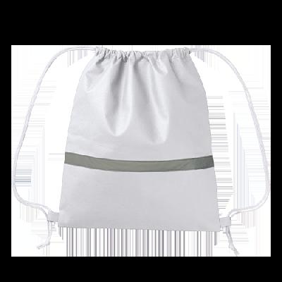 不織布リフレクター付巾着リュック(ナチュラルホワイト)