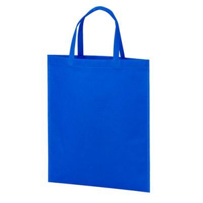 カラモ 不織布バッグ マチなしA4縦 ブルー