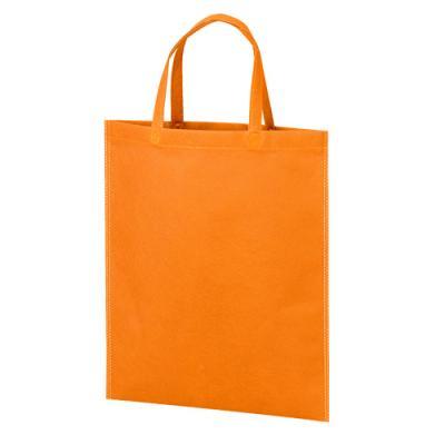 カラモ 不織布バッグ マチなしA4縦 オレンジ