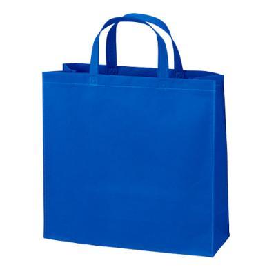 カラモ 不織布バッグ トート ブルー