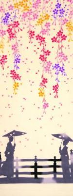 手ぬぐい 舞桜風景