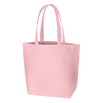キャンバスデイリートート(L) ピンク