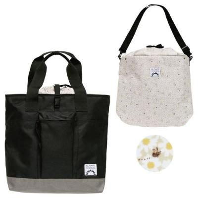 BEL TEMPO 分離型リュック(大) 花とみつばち/BLK