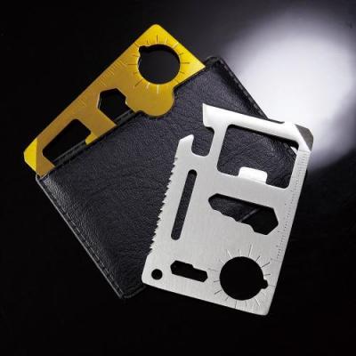メタリック・カード型多機能ツール(ケース付き)