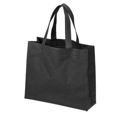 不織布A4マチ付きバッグ(黒)